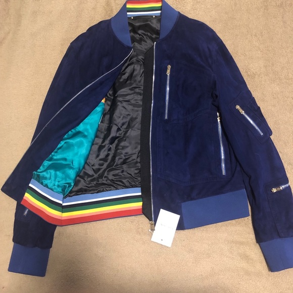 c3ef9cc23 Paul Smith Men's Suede Bomber Jacket NWT